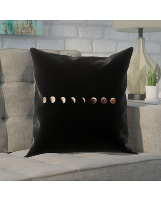 "Brayden Studio Shepparton Moon Phases Pillow Cover with Zipper BYST5080 Size: 14"" x 14"""