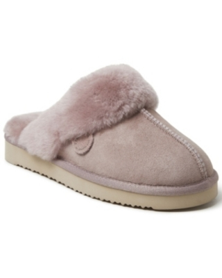Dearfoams Women's Fireside Sydney Genuine Shearling Scuff Women's Shoes
