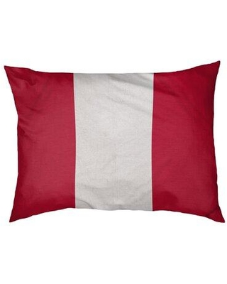 """East Urban Home Buffalo Dog Bed Pillow FCKS5530 Size: Large (50"""" W x 40"""" D x 7"""" H) Color: Red/White"""
