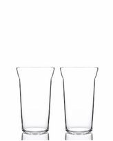 Bomshbee Angle Taper High Ball Glasses - Set of 2 - Clear