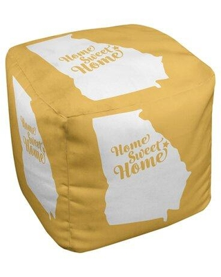 East Urban Home Home Sweet Augusta Georgia Cube Ottoman EBJC3471 Upholstery Color: Yellow