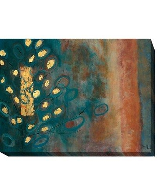 """Artistic Home Gallery 'The Temple Tree' by Natalia Russell Framed Painting Print Wrapped Canvas 720CG Size: 16"""" H x 24"""" W x 1.5"""" D"""