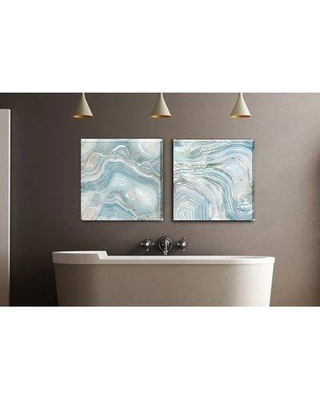 """Wrought Studio 'Blue Agate II' Gallery Graphic Art Print on Wrapped Canvas VRKG5483 Size: 10"""" H x 10"""" W"""
