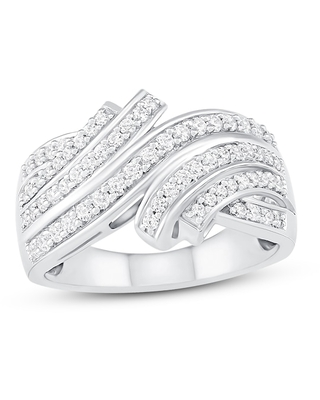 Diamond Ring 1/2 ct tw Round-cut Sterling Silver