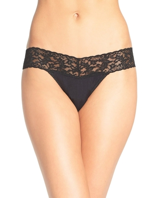 Hanky Panky Low Rise Thong in Black at Nordstrom