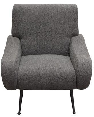 Cameron Collection CAMERONCHCC Accent Chair in Chair Boucle Textured Fabric with Black