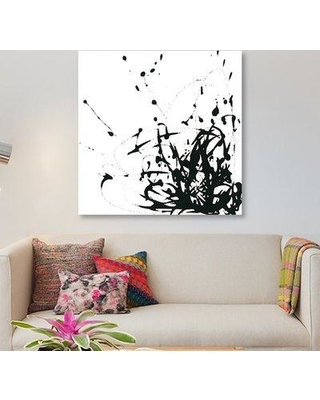 """East Urban Home 'Onyx Expression II' Graphic Art Print on Canvas ESUH4990 Size: 48"""" H x 48"""" W x 1.5"""" D"""