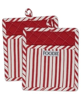 Design Imports Gourmet Chef Pot Holders in Tomato (Set of 2)