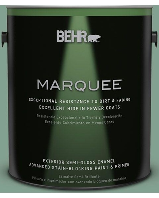 BEHR MARQUEE 1 gal. #MQ6-11 Mossy Bench Semi-Gloss Enamel Exterior Paint and Primer in One
