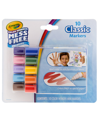 Crayola Classic Color Wonder Markers - 10 Piece Set