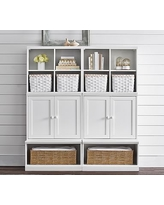Cameron 2 Cubbies, 2 Cabinets, & 2 Open Bases, Heritage Fog, Flat Rate