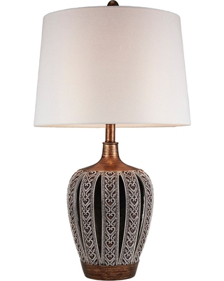 Everly 28.25 Table Lamp Light Brown (Includes Energy Efficient Light Bulb) - Ore International, Brown Clay