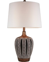 Everly 28.25 Table Lamp - Light Brown - Ore International, Brown Clay