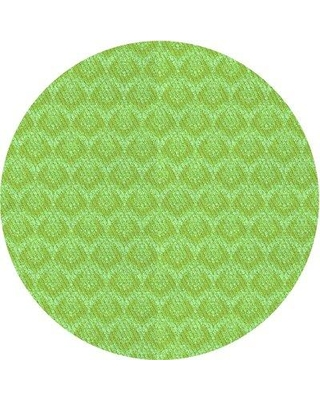 East Urban Home Pugliese Floral Wool Green Area Rug W002550404 Rug Size: Round 3'