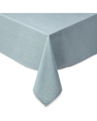 Lenox® French Perle Solid 60-Inch x 120-Inch Oblong Tablecloth in Ice Blue