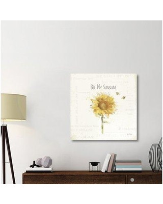 "East Urban Home 'Bee and Bee III' Graphic Art Print on Canvas ERBR1241 Size: 36"" H x 36"" W x 1.5"" D"
