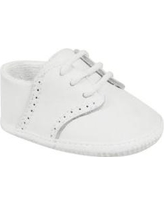 Crown & Ivy™ White Baby Boys White Leather Oxford Shoes