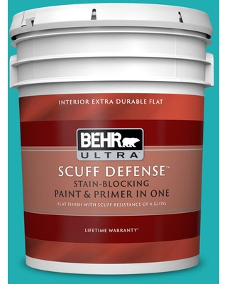 BEHR ULTRA 5 gal. Home Decorators Collection #HDC-SP16-06 Larkspur Blue Extra Durable Flat Interior Paint & Primer