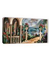 Sales On Garden By The Lake I Painting Print On Wrapped Canvas Alcott Hill Size 24 H X 48 W X 2 D