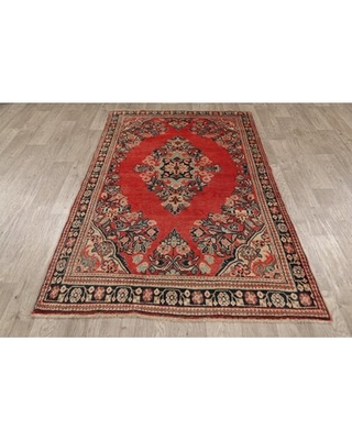 Here S A Great Price On One Of A Kind Aubrionna Hand Knotted 1950s Mahal Red 4 0 X 6 5 Wool Area Rug Isabelline
