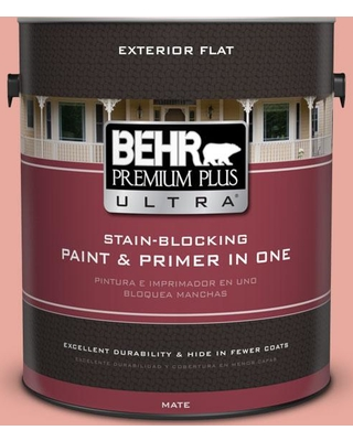 BEHR Premium Plus Ultra 1 gal. #M170-4 Passion Fruit Punch Flat Exterior Paint and Primer in One