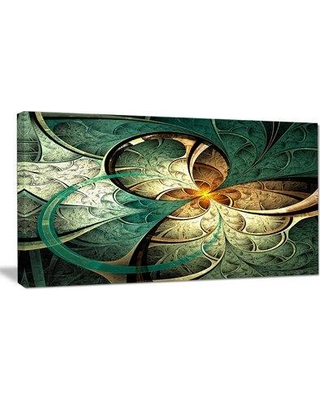 Great Prices For Design Art Dark Yellow Green Fractal Flower Graphic Art Print On Wrapped Canvas Canvas Fabric In Brown Yellow Green Size 16 H X 32 W X 1 D