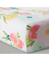 Fitted Crib Sheet Floral - Cloud Island - Pink