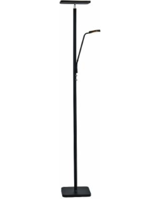 Lite Source Hector Black LED Torchiere Lamp w/ Reading Light