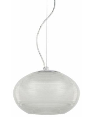 Decor Therapy Burning Glass Pendant Light, Grey