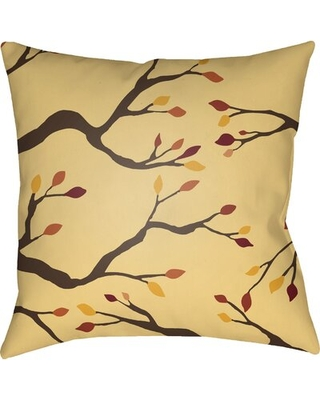 """Sprayberry Indoor / Outdoor Floral Throw Pillow The Holiday Aisle® Size: 20"""" H x 20"""" W x 4"""" D, Color: Yellow/Brown/Red"""