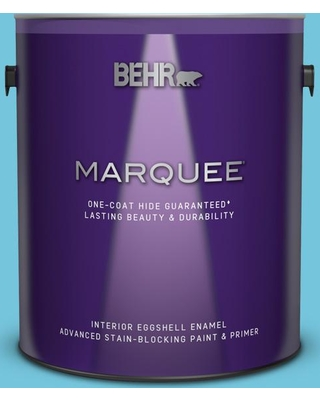 BEHR MARQUEE 1 gal. #520B-4 Water Flow Eggshell Enamel Interior Paint and Primer in One