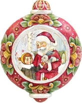 The Holiday Aisle Santa with Boy Ornament THLY6409