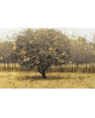 Clicart 'Golden Trees I Taupe' by James Wiens Painting Print on Canvas GWA18644K9