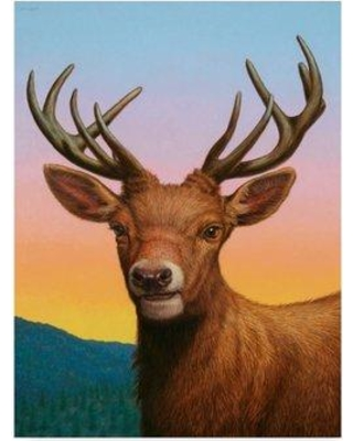 """Millwood Pines 'Reddeer' Acrylic Painting Print on Wrapped Canvas MLWP4302 Size: 19"""" H x 14"""" W x 2"""" D"""