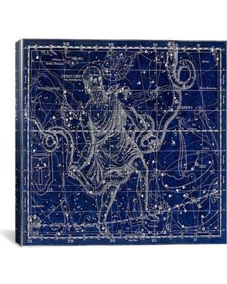 """iCanvas Maps and Charts Celestial Atlas - Plate 9 (Ophiuchus Serpens) by Alexander Jamieson Graphic Art on Canvas in Blue 11455N-1PC Size: 26"""" H x 26"""" W x 1.5"""" D"""
