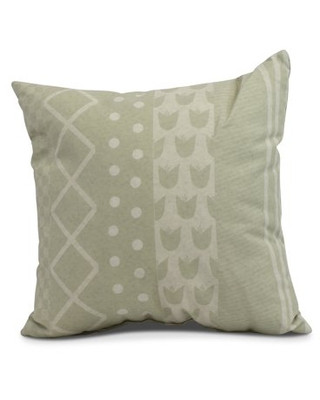 Simply Daisy, 26 x 26 inch,Pattern Stripe Decorative Pillow,Green