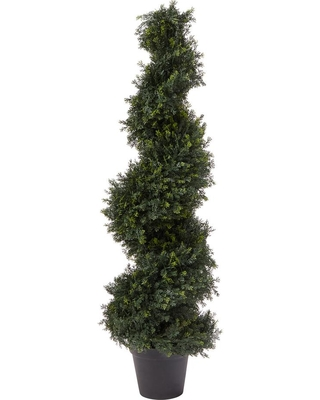 Artificial Cypress Spiral Topiary