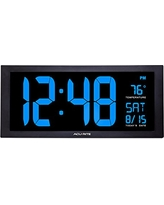 Acurite 76100M Oversized LED Clock with Indoor Temperature, Date and Fold-Out Stand, 18""