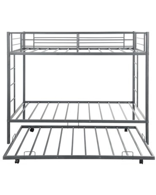 Peasely Twin over Twin Bunk Bed with Trundle Isabelle & Max™ Bed Frame Color: Silver