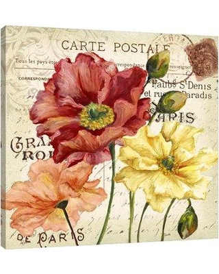 """Winston Porter 'Colorful Poppies II' Graphic Art Print on Wrapped Canvas WNPR7252 Size: 48"""" H x 48"""" W"""