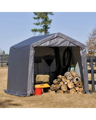ShelterLogic Outdoor Storage Shed-in-a-Box, Peak Top, Grey, 10 x 10 x 8 ft, ShelterLogic Sheds & Outdoor Storage