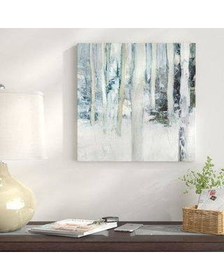 """East Urban Home 'Winter Woods I' Print on Wrapped Canvas EUNM6188 Size: 36"""" H x 36"""" W"""