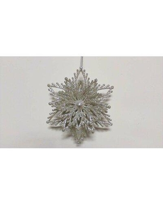 The Holiday Aisle 3D Glitter Snowflake Holiday Shaped Ornament (Set of 2) W000507151