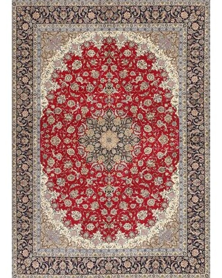 Malpha Traditional Red/Beige/Gray Area Rug Bloomsbury Market Rug Size: Rectangle 5' x 7'