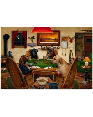 """Winston Porter 'Duck Hunters' Acrylic Painting Print on Wrapped Canvas WNPO4419 Size: 30"""" H x 47"""" W x 2"""" D"""
