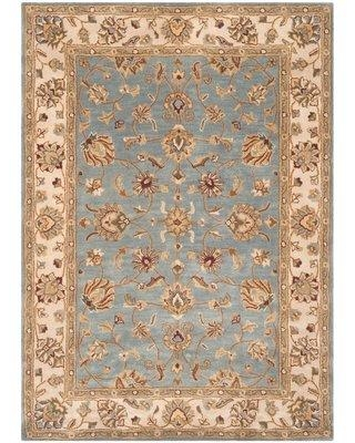 Astoria Grand Colliers Hand-Tufted Wool Blue/Beige Area Rug W001401800 Rug Size: Rectangle 5' x 7'