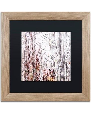 """East Urban Home 'Winter Trees' Framed Painting Print EBHV6856 Matte Color: Black Size: 16"""" H x 16"""" W x 0.5"""" D"""