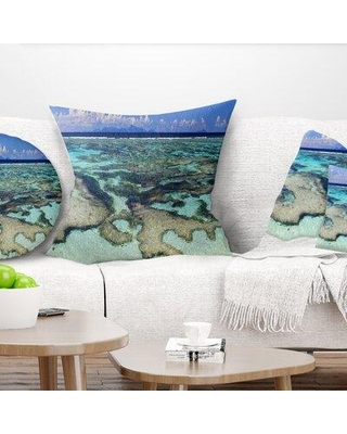 """East Urban Home Seascape Tropical Ocean Waters Pillow FUVC7624 Size: 18"""" x 18"""" Product Type: Throw Pillow"""