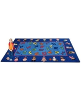 "Kid Carpet Friends Together Friendship Area Rug FE727-34A / FE727-44A Rug Size: 7'6"" x 12'"