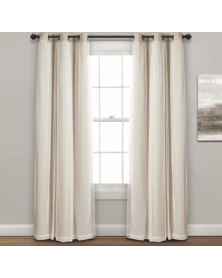 Hot Sale Lush Decor 2 Pack Sheer Window Curtains Beig